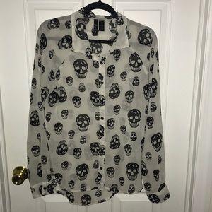 Skull blouse
